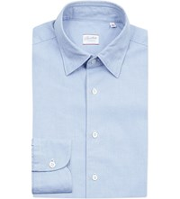 Slowear Regular Fit Cotton Oxford Shirt Blue