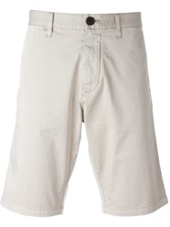 Armani Jeans Classic Chino Shorts Nude And Neutrals