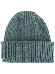 Paul Smith Ribbed Beanie Blue