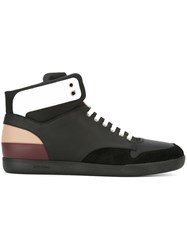 Christian Dior Homme Lace Up Hi Top Sneakers Black