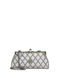 Carlo Fellini Sofia Clutch Handbag Pewter
