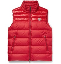 Moncler Dupres Quilted Shell Down Gilet Red