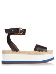 Stella Mccartney Espadrille Platform Sandals Black