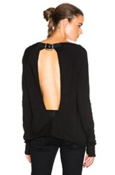 Pam And Gela Twist Back Sweater In Black
