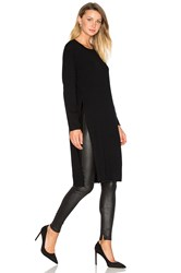 Line Knox Side Slit Sweater Black