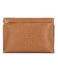 Loewe Large Leather Logo Pouch Tan