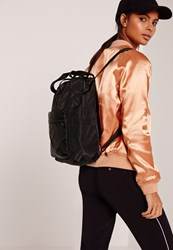 Missguided Nylon Sleek Sport Backpack Black