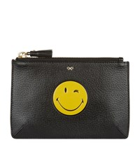 Anya Hindmarch Wink Loose Pocket Zip Pouch Female Black