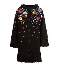 Red Valentino Floral Embroidered Cardigan Female Black