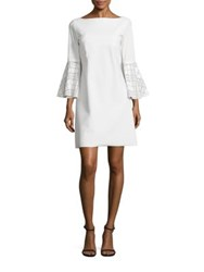 La Petite Robe Di Chiara Boni Natalia Embellished Bell Sleeve Dress White