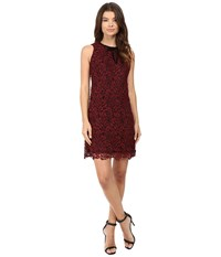 Rsvp Aanya Sleeveless Lace Dress Wine Women's Dress Burgundy