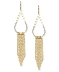 Inc International Concepts Gold Tone Pave Teardrop Fringe Drop Earrings Only At Macy's
