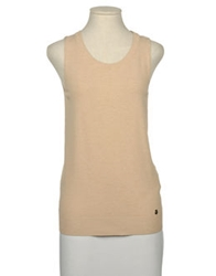 Cristinaeffe Collection Sleeveless Sweaters Sand