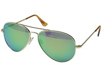 Randolph Concorde 57Mm Polarized Rose Gold Satin Tan Polarized Glass With Skull Temple Fashion Sunglasses Green