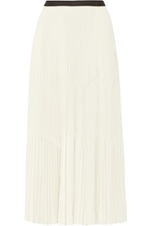 Barbara Casasola Pleated Crepe De Chine Maxi Skirt