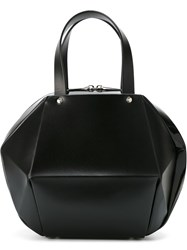 Pleats Please By Issey Miyake Structured Tote Bag Black