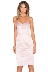 Milly Marta Duchess Satin Strapless Dress Blush