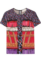 Peter Pilotto Printed Stretch Crepe Top Red