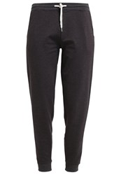 Zalando Essentials Tracksuit Bottoms Dark Grey Melange Mottled Dark Grey