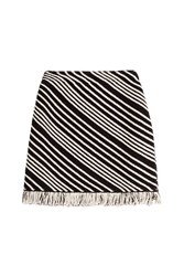 Sonia Rykiel Striped Cotton Blend Skirt Multicolor