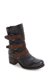 A.S.98 Women's Xyrus Buckle Strap Boot Navy