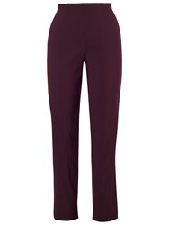Chesca Slim Stretch Trousers Aubergine