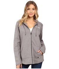 Hurley Seaside Fleece Zip Hoodie Heather Grey Women's Fleece Gray