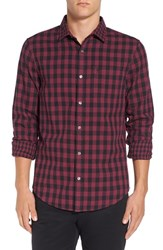 Original Penguin Men's Trim Fit Double Weave Gingham Shirt