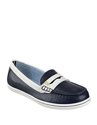 Tommy Hilfiger Butter Leather Loafers Navy Blue
