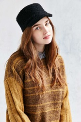 Urban Outfitters Fuzzy Band Cap Black