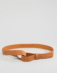 Vero Moda Leather Waist Belt Tan Brown