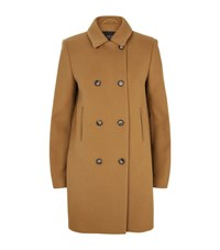 Set Double Breasted Peter Pan Collar Coat Female Camel