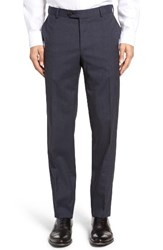 Pal Zileri Men's Flat Front Check Wool Trousers