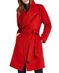 Phase Eight Bruna Belted Coat Red