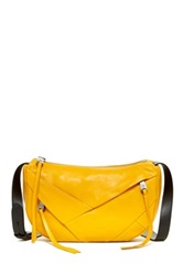 Christopher Kon Folded Leather Crossbody Yellow