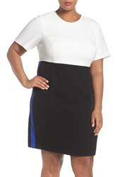 Eliza J Plus Size Women's Colorblock A Line Dress
