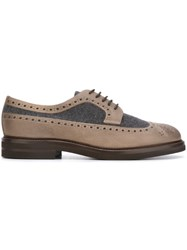 Brunello Cucinelli Panelled Brogues Brown