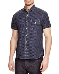 Psycho Bunny Diamond Print Regular Fit Button Down Shirt 100 Bloomingdale's Exclusive Navy