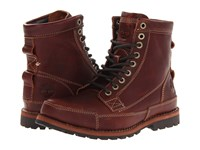 Timberland Earthkeepers Rugged Original Leather 6 Boot Red Brown Distressed Men's Lace Up Boots
