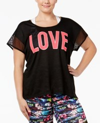 Material Girl Plus Size Mesh Graphic T Shirt Only At Macy's