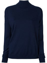 Roseanna Fine Knit Turtleneck Jumper Blue