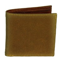 40 Colori Mustard Solid Washed Mogador And Leather Wallet Yellow Orange