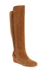 Isola Women's 'Taveres' Tall Boot Desert Tan Suede