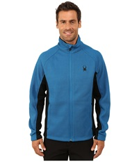 Spyder Constant Full Zip Mid Weight Core Sweater Concept Blue Black Men's Sweater