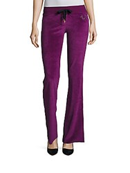 True Religion Logo Applique Drawstring Pants Boysenberry