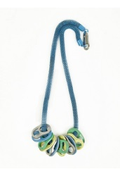 Kenzo Men's Blue Ring Pull Necklace