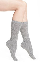 Naigai Women's Wool Blend Crew Socks Grey