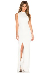 Alice Olivia Gisela Mockneck Maxi Dress Cream