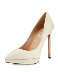 Valentino Leather Pointed Toe Platform Pump I16