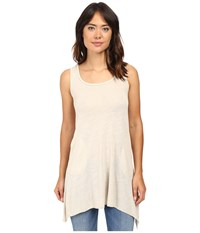 Allen Allen Angled Two Pocket Tunic Tank Sandbox Women's Sleeveless White
